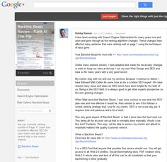 #BacklinkBeastReview I have added an honest and in-depth review of Backlink Beast on my Google + Communities page. Click here for more info => https://plus.google.com/communities/108357528130617595562