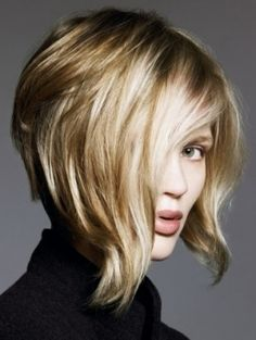 Great cut for that person wanting to go from long to short...the front gives the security of their length. LOVE