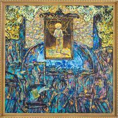 """Untitled"", 2000. Artista puertorriqueño, Arnaldo Roche Rabel    Óleo sobre tela"