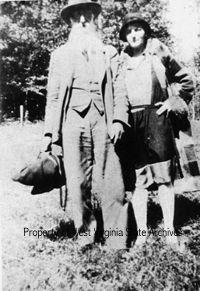 """Preacher Uncle Dyke Garrett and Mrs. Willis Hatfield. Garrett baptized """"Devil Anse"""" Hatfield in 1911."""