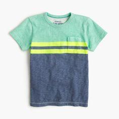 Boys' pocket T-shirt in vintage stripe : t-shirts & polos | J.Crew