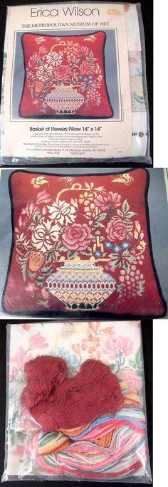 Needlepoint Kits 3109: Erica Wilson Basket Of Flowers Pillow Needlepoint Kit Metropolitan Museum Of Art -> BUY IT NOW ONLY: $49.99 on eBay!