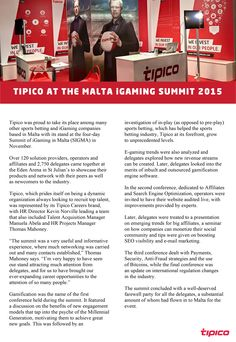Tipico Careers was present at the SIGMA - Summit of IGaming, Malta with a stand. Read our article for a summary of the event!