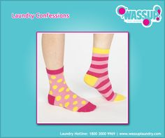 Laundry Confessions. How many of you wore mix-matched socks like this?