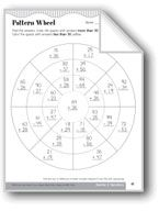 Pattern Wheel (Addition/Subtraction with Regrouping). Download it at Examville.com - The Education Marketplace. #scholastic #kidsbooks @Karen Echols #teachers #teaching #elementaryschools #teachercreated #ebooks #books #education #classrooms #commoncore #examville
