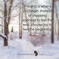 See the end as a new beginning...  https://healthruwords.com/inspirational-pictures/begin/  #mindfulness #mentalhealth #positivity #HealThruWords