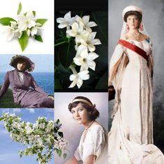 Grand Duchess Tatiana Nikolaevna Romanova of Russia ~ her favorite flower was jasmine.