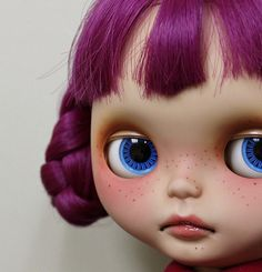 Such a sweet little face and love her hair color.  freckle blythe