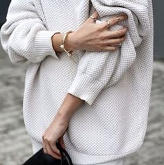 waffle knit Sweater