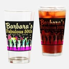 FABULOUS 50TH Drinking Glass Dazzle, sparkle and shine with our fabulous 50th birthday Tees and gifts.http://www.cafepress.com/jlporiginals/6515976 #50yearsold #Happy50thbirthday #50thbirthdaygift #Happy50th #Personalized50th