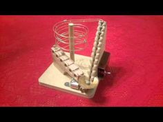 Marble Machine with Incline Double Screw Lifter Marble Toys, Marble Machine, Perpetual Motion, Wood Architecture, Kinetic Art, Stem Projects, Building Toys, Pinball, Deco