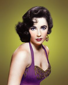 Elizabeth Taylor by klimbims, via Flickr