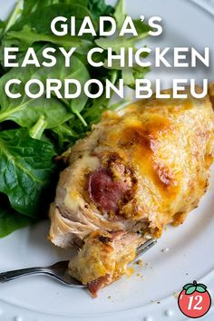 Giada's Easy Chicken Cordon Bleu This Homemade Dish Is Crispy And Delicious, Filled With Cheese And Ham. It Is An easy Version Of The Famous French Meal That Is Ready In About One Hour. . Easy Chicken Cordon Bleu, Chicken Cordon Bleu Casserole, Chicken Casserole, Chicken Ham, Chicken Recipes, Chicken Meals, Boneless Chicken, Turkey Recipes, Easy Dinner Recipes