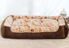 NEO Home Corduroy Rectangle Ultra-Soft Dog Kennels Pet Bed with Soft Cushion and All-in-One Design in Many Colors and Sizes. Click the image : Dog Beds and Furniture Big Dog Beds, Cheap Dog Beds, Cool Dog Beds, Big Dogs, Large Dogs, Cat Beds, What Dogs, Bed Reviews, One Design