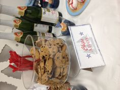 Nautical baby shower- Chips Ahoy! I'll make home made ones and put them in mason jars!