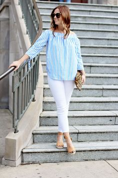 0e0ece4d0957 my everyday style  an off the shoulder top to love! Weekend Getaway OutfitsMom  ...