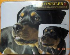 Dog Lover Mouse Pad 9x7 ROTTWEILER Durable Neoprene & COASTER SET GREAT GIFT #DRDirect
