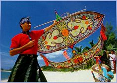 Kite-flying usually takes place in the East Coast after the harvest when farmers have time on their hands to fashion and fly these Wau Bulan.