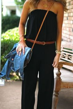 Casual Black Strapless Jumper