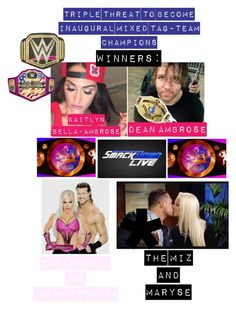 """Mixed tag team champs"" by kaitlyngilmore ❤ liked on Polyvore featuring WWE"