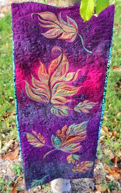 MarveLes Art Studios: autumn splendor ~ a hand painted quilt