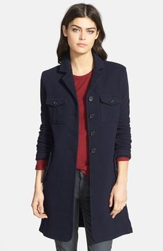 James Perse Fleece Military Coat available at #Nordstrom