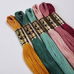 "4,090 Me gusta, 31 comentarios - DMC (@dmc_embroidery) en Instagram: ""Shiny Happy Floss from @handtextileria #dmcthreads #dmcembroidery"""
