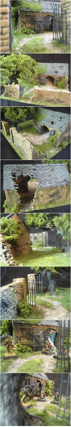 The Old Stable by Zaboobadidoo. Made these with mom as a kid...including model of Grand Greek Parthenon. Great skill/$ cash project. #modelrailway