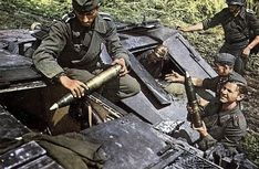 Loading ammunition into the German assault gun StuG III