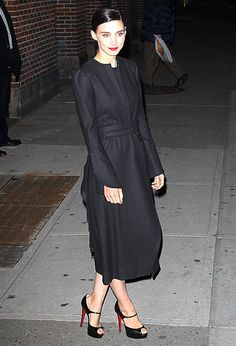 Leaving her Letterman taping in the black coat you've been looking for every season since you started wearing black coats.