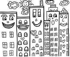 James Rizzi ~ Pop Art Buildings – Painted Paper Art
