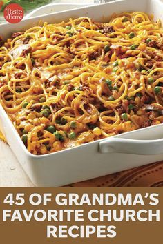 45 Recipes Grandma Stole from Her Church Friends - - 45 Recipes Grandma Stole from Her Church Friends. 45 Recipes Grandma Stole from Her Church Friends - - 45 Recipes Grandma Stole from Her Church Friends. Church Potluck Recipes, Potluck Dishes, Food Dishes, Main Dishes, Potluck Meals, Sunday Dinner Recipes, Easy Casserole Recipes, Casserole Dishes, Crockpot Recipes
