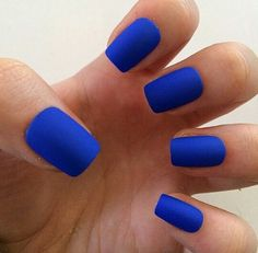Cobalt Blue nails