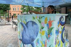Sarah Kuhn of Windsor  is drawn to floral design in her artwork. She is also inspired by the sea. Kuhn combined the two to create her design for the Piano About Town program in Fort Collins.