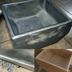 Bespoke Microcement sink