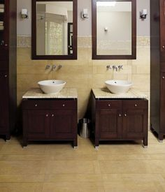 Photographic Gallery like nice vanity and mirror setup for small bathroom