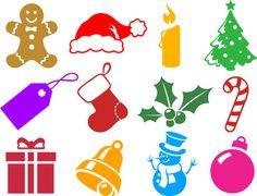 Adobe Photoshop tutorial image: Holiday-themed custom shapes.