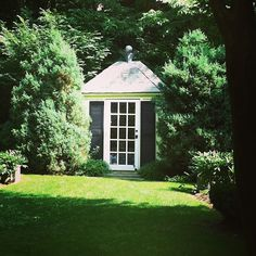 A garden shed designed by Alison Carabasi of Hillbrook Collections