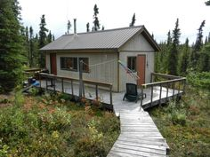 Cabin near Lake Louise, Alaska. Photographed by Travis S.