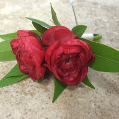 red ranunculus groom's #boutonniere