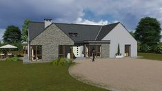 House Plans N Ireland Lovely House Design Books Ireland Modern Irish House Plans Best Modern Bungalow House Plans, Bungalow Floor Plans, Bungalow Exterior, Bungalow House Design, Cottage House Plans, Cottage Design, Cottage Homes, Modern House Design, Bungalow Designs