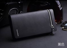 Hot selling European and American fashion business genuine leather handbags long wallet men zip purse Long Wallet Men, Luxury Purses, Business Fashion, Business Style, Coin Purse Wallet, Leather Handbags, Leather Wallets, Leather Men, Zipper