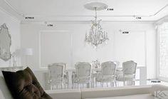 Profile decorative clasice ce aduc un aer de eleganta livingului! Decor, Furniture, Room, Home Decor Decals, Ceiling Lights, Ceiling, Chair, Home Decor, Chandelier
