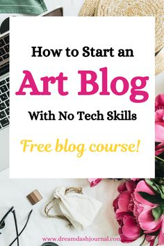 How to start an art blog, even if you have no tech skills! An art blog will showcase your artwork, help you make more money, and expand your creative offerings. Get step by step help to make an art website plus a free blogging course. #websitecreation #bloggingforbeginners #artmarketing #artbusinesstips