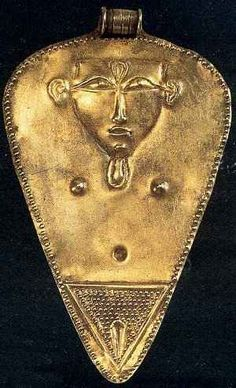 from Egypt is this image of the fertility/cow goddess Hathor.