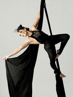 Elena Marina, Black Aerial Silks