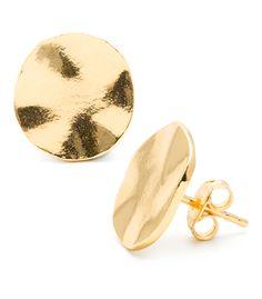 gorjana 'Chloe' Large Stud Earrings Gold One Size by: gorjana Beaded Earrings, Gold Earrings, Gold Jewelry, Jewelry Accessories, Jewelry Design, Key Jewelry, Heart Jewelry, Indian Jewelry, Statement Earrings