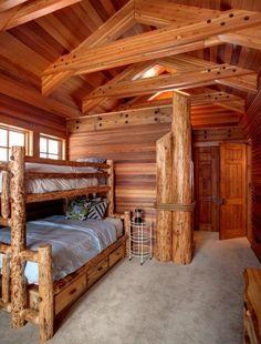 Boys room, log cabin