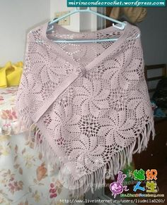 one of the prettiest ponchos I've seen