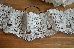 lace trim lace trim cotton venise embroidery lace by hundredmiles, $4.50